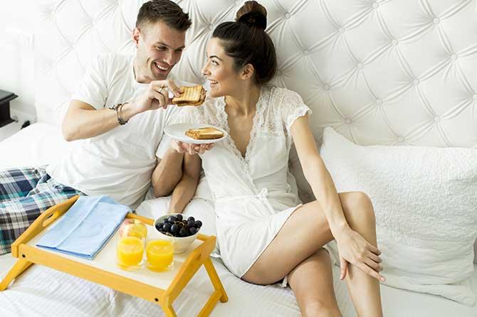 L'affinità di coppia migliora con una buona prima colazione