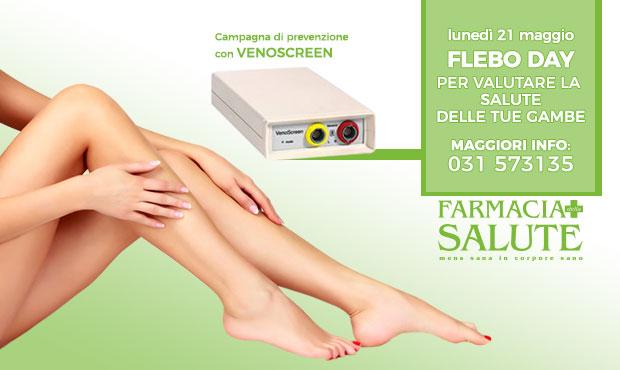 FLEBO DAY lunedì 21 maggio – controlla la salute delle tue gambe!