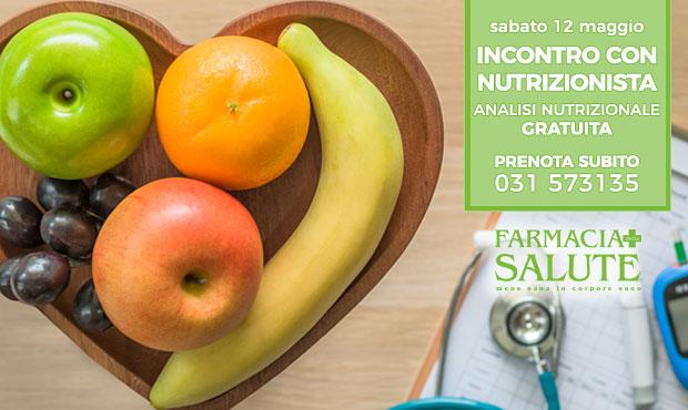 Incontro con la Nutrizionista sabato 12 maggio – prenota subito!