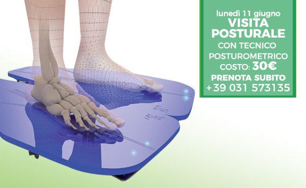 Visita Posturale con tecnico posturometrico – lunedì 11 giugno 2018