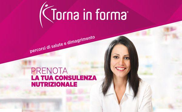 Consulenza Nutrizionale TORNA IN FORMA – lunedì 25 giugno 2018