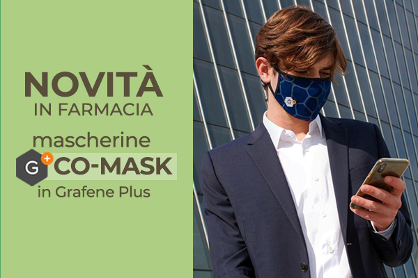 Mascherine al grafene G+ Co-Mask con proprietà antivirali e antibatteriche